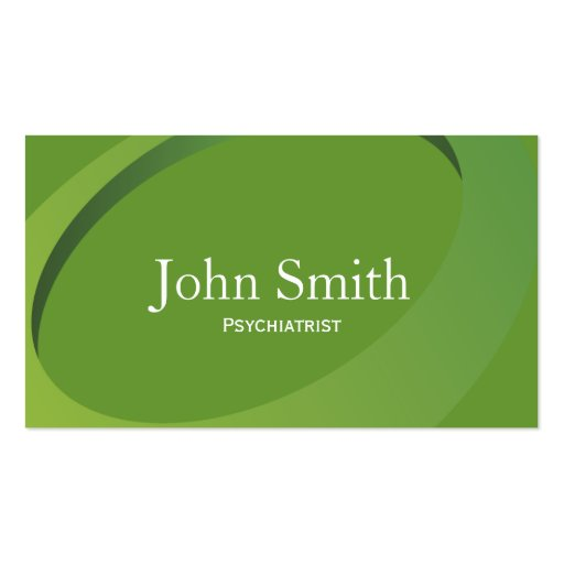 Abstract Green Psychiatrist Business Card