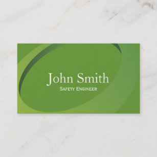 Control engineer business cards templates zazzle abstract green safety engineer business card reheart Images