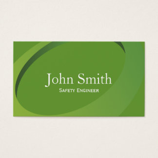 Abstract Green Safety Engineer Business Card