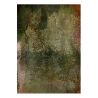Abstract green snail trail on bark texture business card
