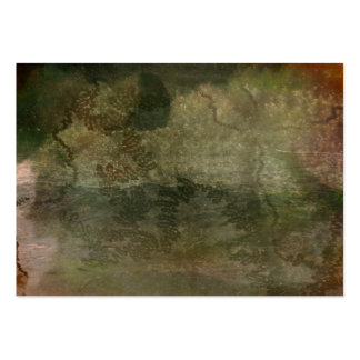 Abstract green snail trail on bark texture business card template