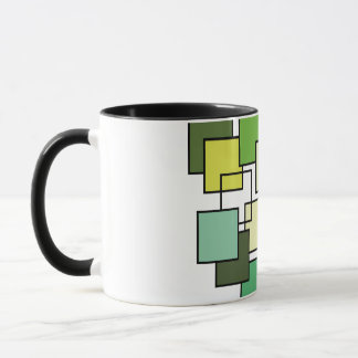 Abstract Green Square Art Mug