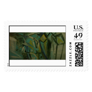 Abstract Green Stamps