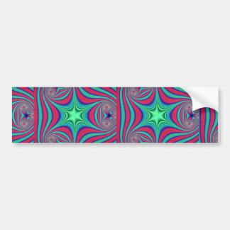 Abstract Green star Car Bumper Sticker