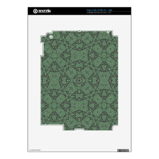Abstract Green Stylish Pattern iPad 2 Skins