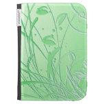 Abstract Green Swirl Kindle Keyboard Covers