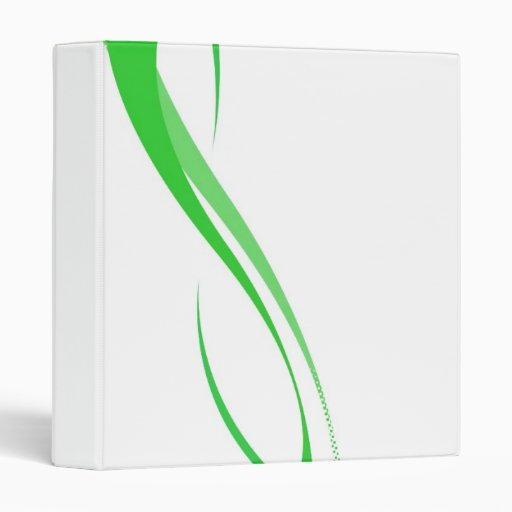 Abstract Green Swoosh Lines Background 3 Ring Binder