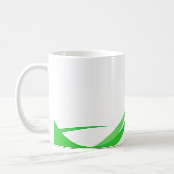 Abstract Green Swoosh Lines Background Coffee Mug