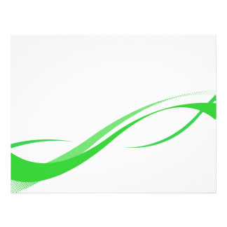 Abstract Green Swoosh Lines Background Flyer