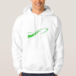 Abstract Green Swoosh Lines Background Hooded Pullovers