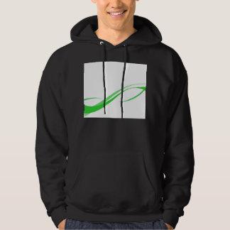 Abstract Green Swoosh Lines Background Hooded Sweatshirt