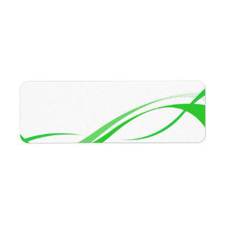 Abstract Green Swoosh Lines Background Return Address Label