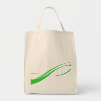 Abstract Green Swoosh Lines Background Tote Bag