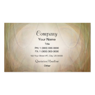 Abstract Green Tan Glow Business Card