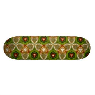 Abstract green tan orange Skateboard
