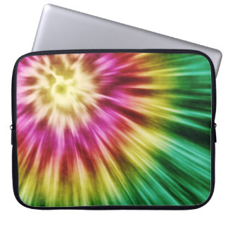 Abstract Green Tie Dye Computer Sleeve