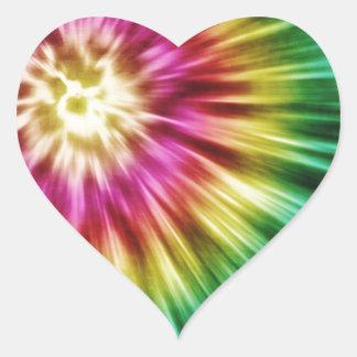 Abstract Green Tie Dye Heart Sticker