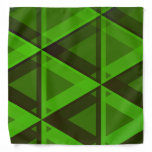 [ Thumbnail: Abstract Green Triangles Pattern Bandana ]