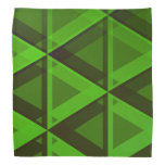 [ Thumbnail: Abstract Green Triangles Pattern Bandana ]