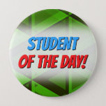 [ Thumbnail: Abstract Green Triangles Pattern Button ]