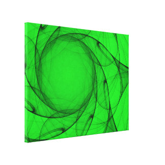 Abstract Green Tulle Sun Canvas Print