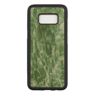 Abstract Green Water Ripples Carved Samsung Galaxy S8 Case