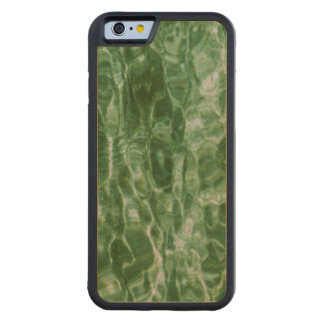 Abstract Green Water Ripples Carved® Maple iPhone 6 Bumper