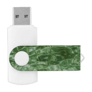 Abstract Green Water Swivel USB 2.0 Flash Drive