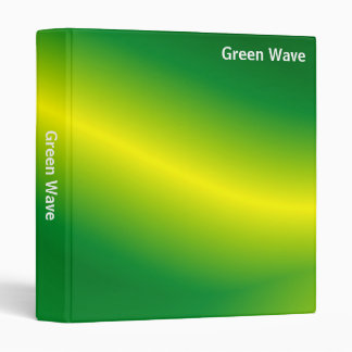 Abstract - Green Wave (1in) 3 Ring Binder