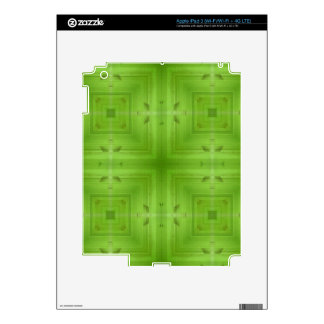 Abstract Green Wood Pattern iPad 3 Decals