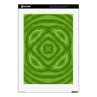 Abstract green Wood Pattern PS3 Decal
