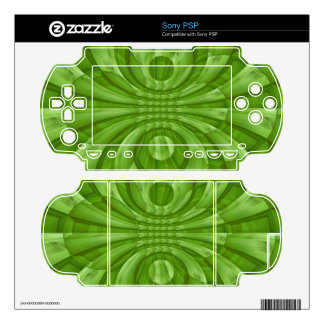 Abstract green Wood Pattern Skin For The Sony PSP