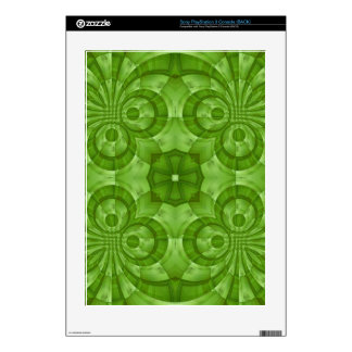 Abstract green Wood Pattern Skin For The PS3