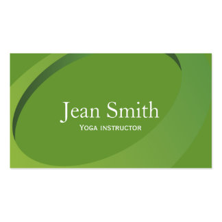 Abstract Green Yoga instructor Business Card