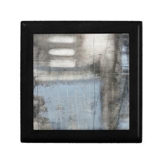 Abstract Grey & Blue Painting Keepsake Box