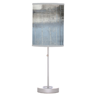 Abstract Grey & Blue Painting Table Lamp