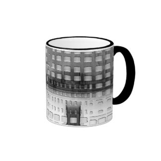 Abstract grey design mugs