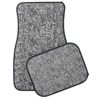 abstract grey modern geometric pattern texture car floor mat
