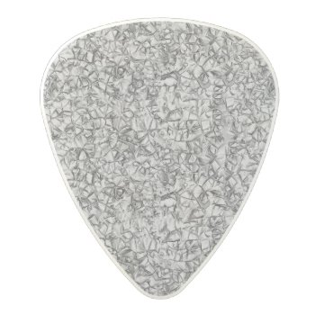 Abstract Grey Modern Geometric Pattern Texture Polycarbonate Guitar Pick by YLTextures at Zazzle