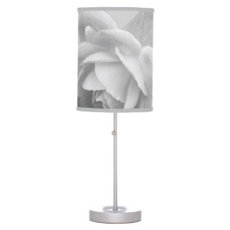 Abstract greyscale rose desk lamp