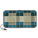 Abstract Grid Blue & Wheat Speaker