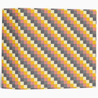 Abstract Grid Color Pattern Binder