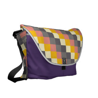 Abstract Grid Color Pattern Courier Bag