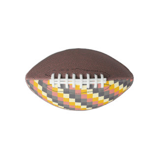 Abstract Grid Color Pattern Football