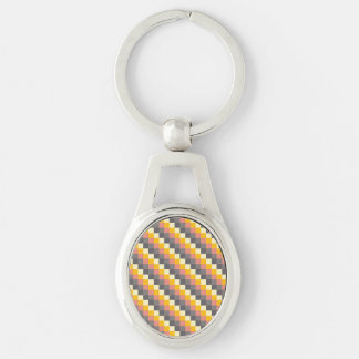 Abstract Grid Color Pattern Keychain
