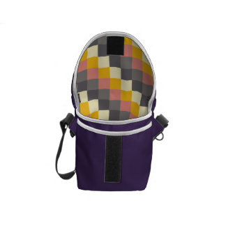 Abstract Grid Color Pattern Messenger Bag