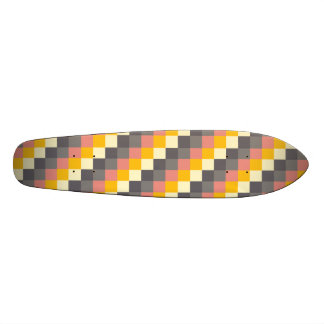 Abstract Grid Color Pattern Skateboard