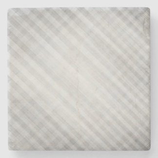 abstract grid pattern stone coaster