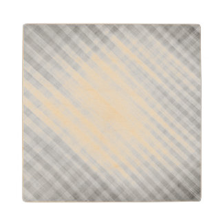 abstract grid pattern wooden coaster