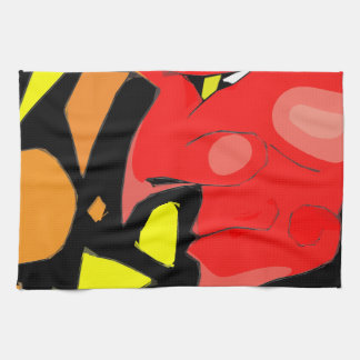 Abstract Grinning Devil Art Hand Towel